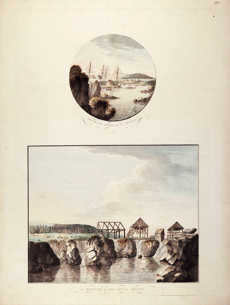 Detail of Views of the Mechios River by J.F.W. Des Barres