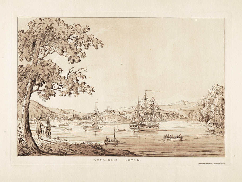Detail of Annapolis Royal by J.F.W. Des Barres