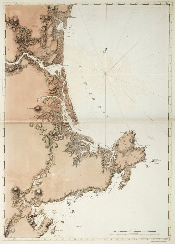 Detail of Ipswich Bay and Cape Ann by J.F.W. Des Barres
