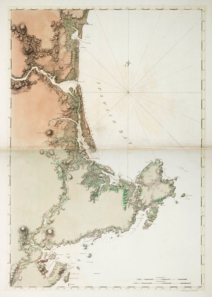 Detail of Chart of Ipswich Bay and Cape Ann, Atlantic coast of North America by J.F.W. Des Barres