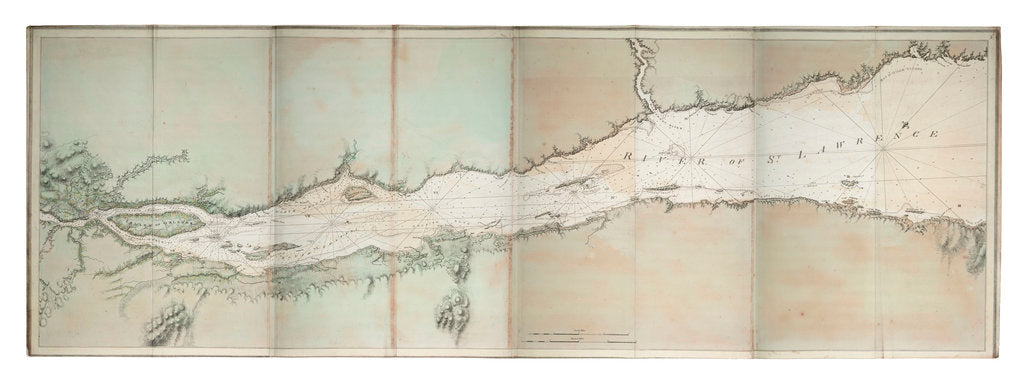Detail of Chart of river of St. Lawrence, North America Atlantic coast by J. F. W. Des Barres