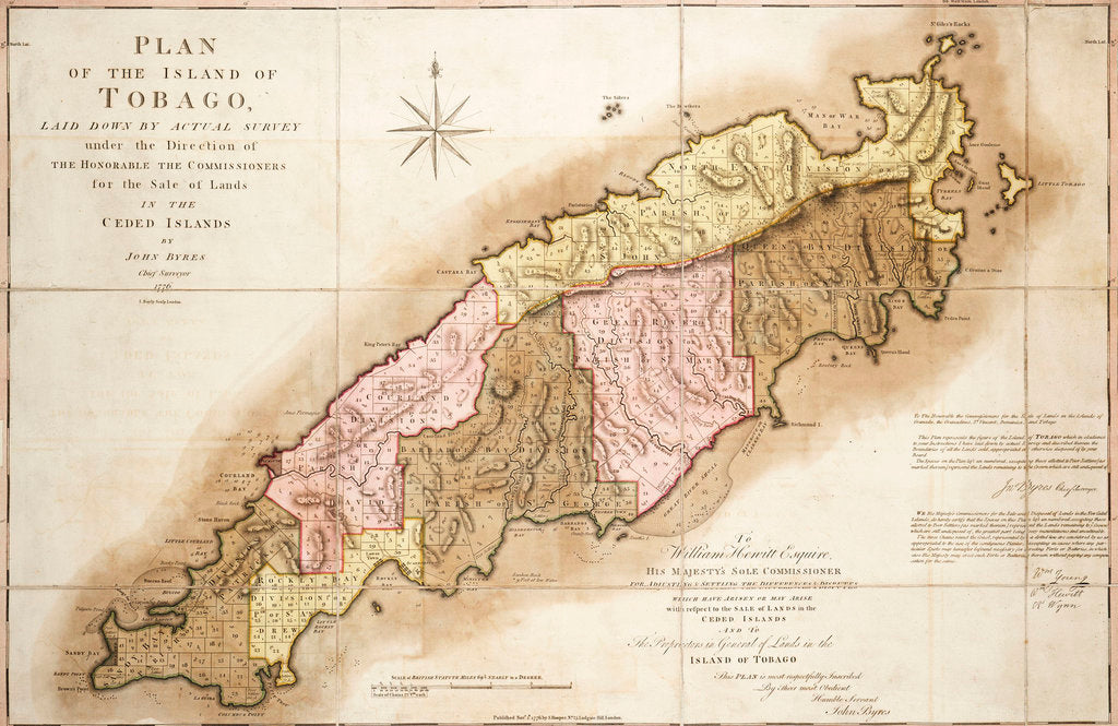 Detail of Plan of Tobago by John Byres