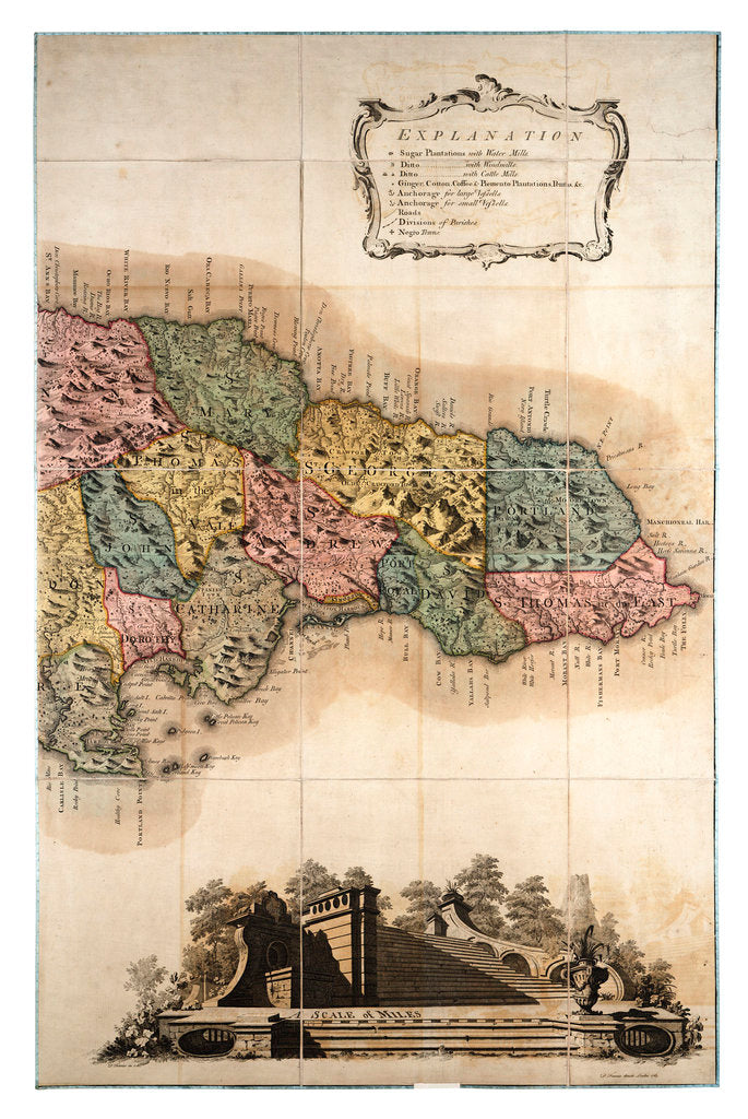 Detail of Map of Jamaica by unknown