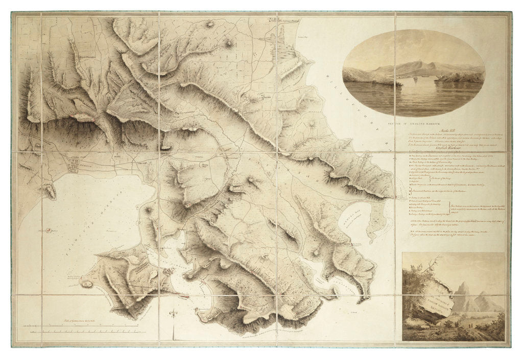 Detail of Plan of the environs of English Harbour, Antigua by John Brown