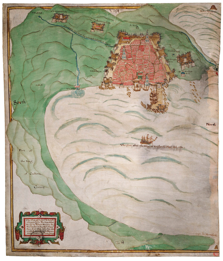 Detail of Chart of Algiers Bay, 1620 by Robert Norton