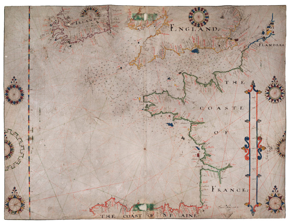 Detail of Map of Bay of Biscay and English Channel by Thomas Hood