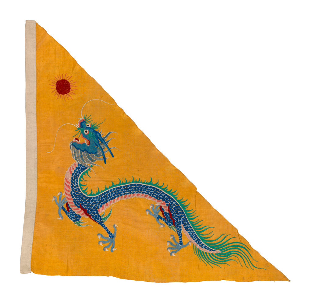 Detail of Imperial Chinese naval ensign (1866-1888) by unknown