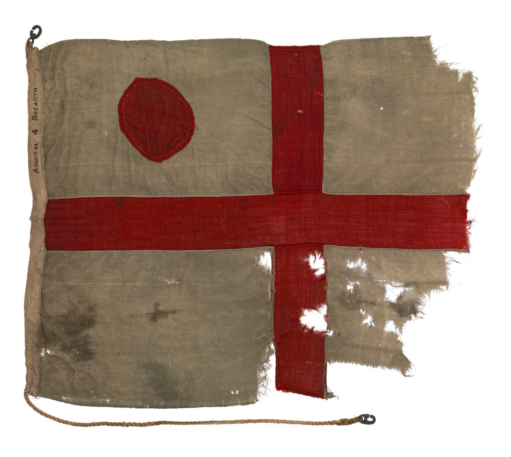 Detail of Command flag, Vice Admiral, RN by unknown