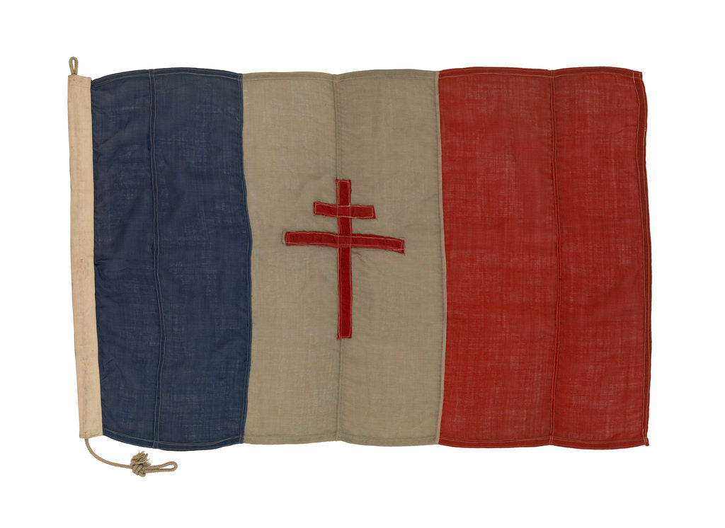 Detail of Free French flag by unknown