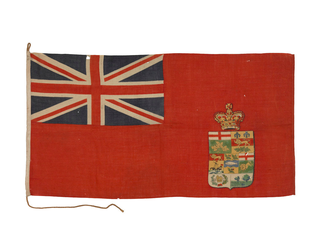 Detail of Canadian red ensign (1873-1896) by unknown
