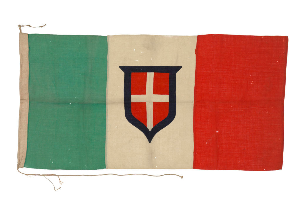 Detail of Italian merchant ensign (1848-1946) by unknown