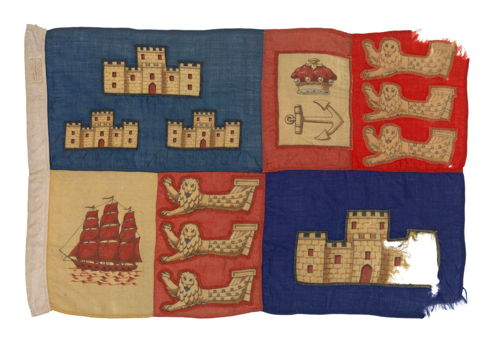 Detail of Standard of the Lord Warden of the Cinque Ports by John Edgington