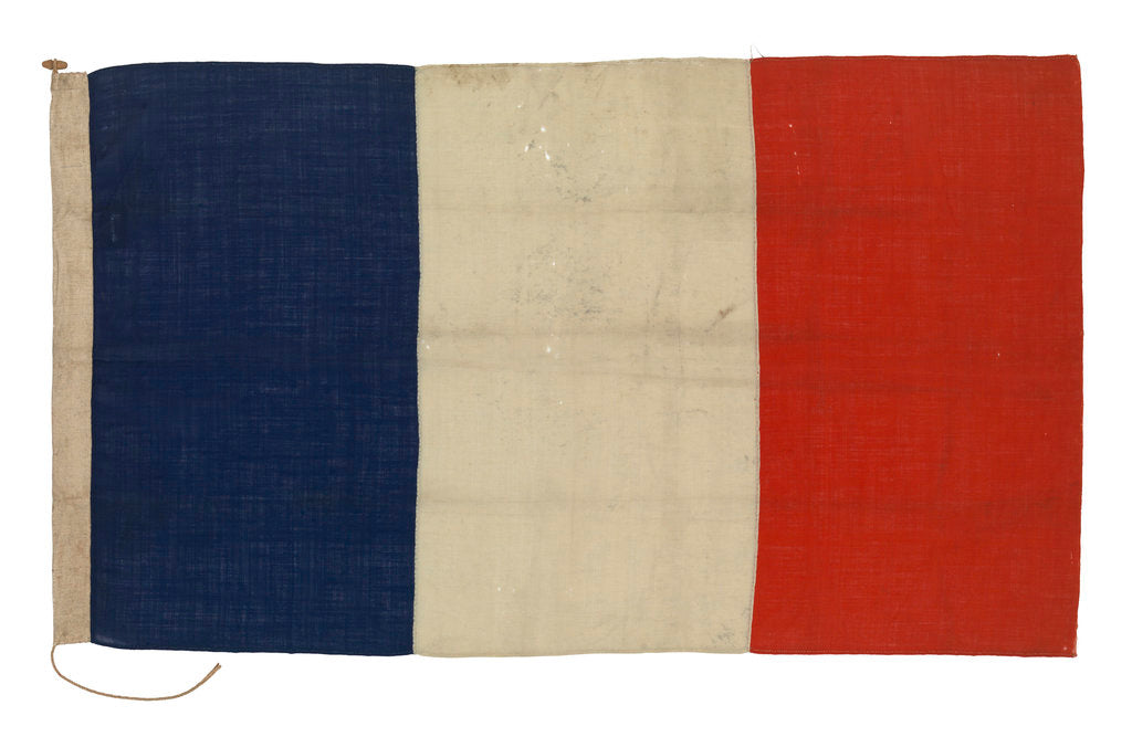 Detail of National flag of France (1794-1814, after 1830) by unknown