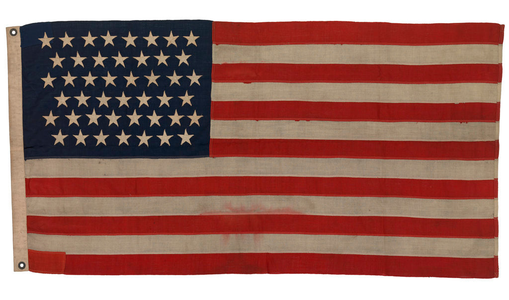 Detail of National flag of the USA (1896-1908) by unknown