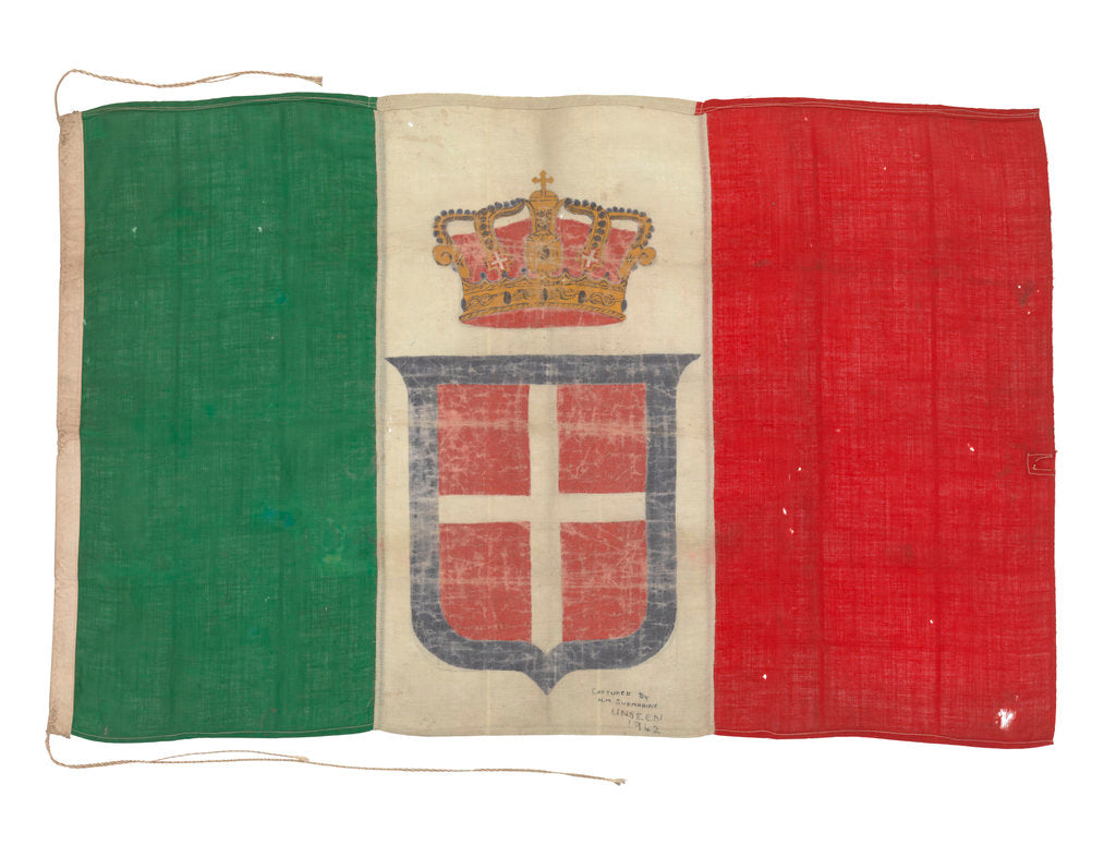Detail of Italian naval ensign (before 1946) by unknown
