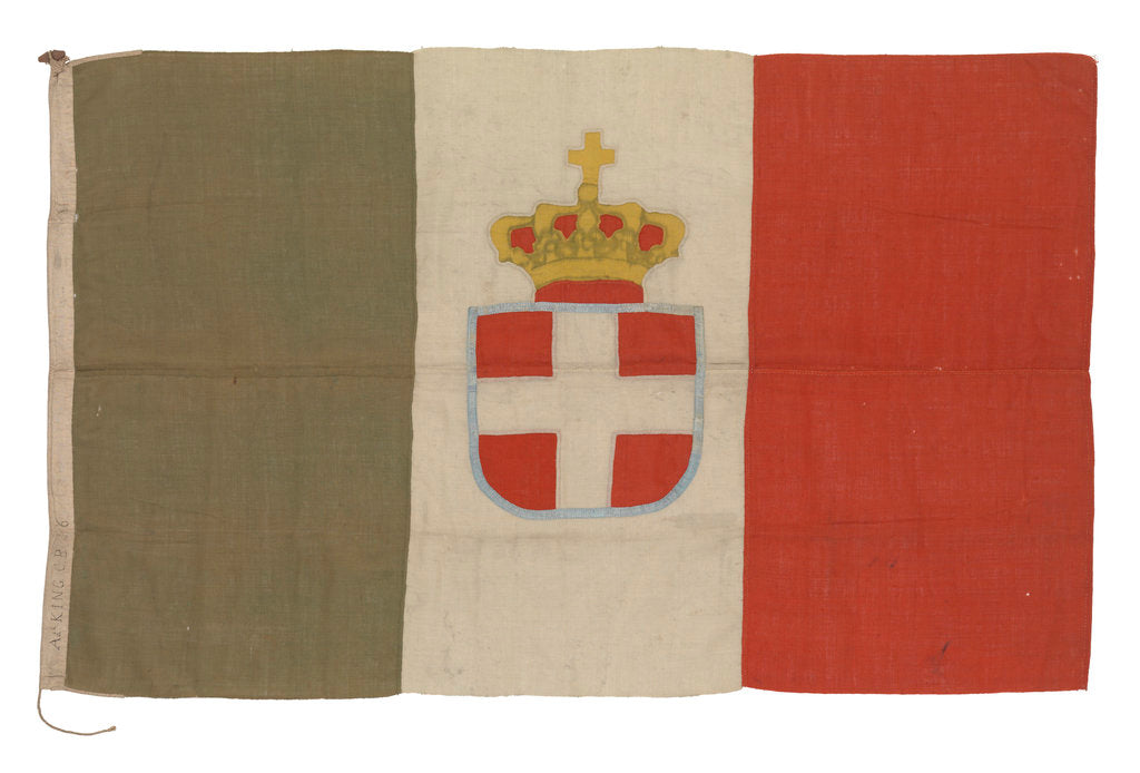 Detail of Italian naval ensign by unknown