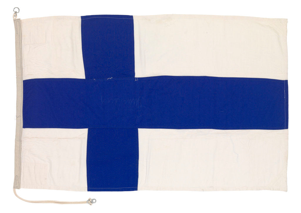 Detail of National flag of Finland (after 1918) by unknown