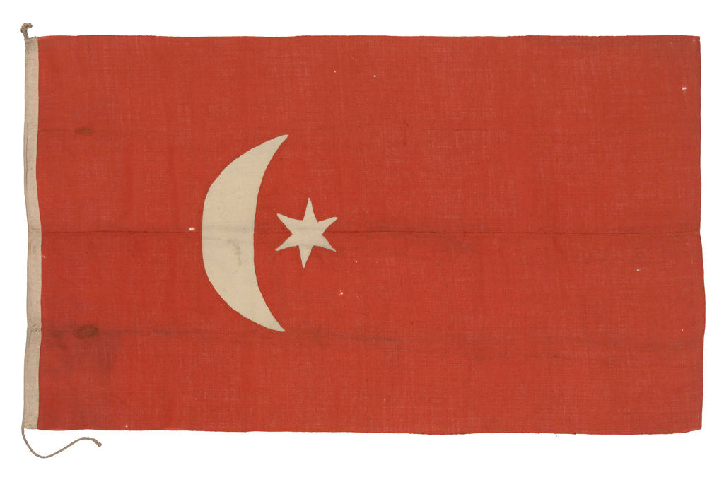 Detail of Ensign, Turkey and Ottoman Empire (after 1844) by unknown