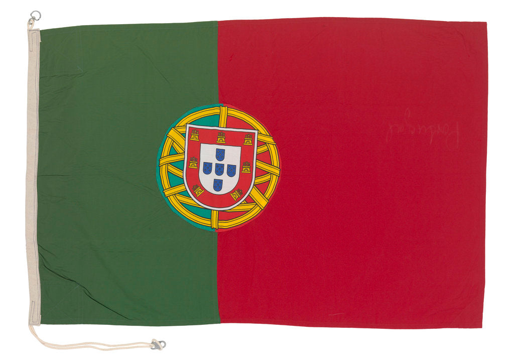 Detail of National flag of Portugal (after 1911) by Rudolph Equitz & Co