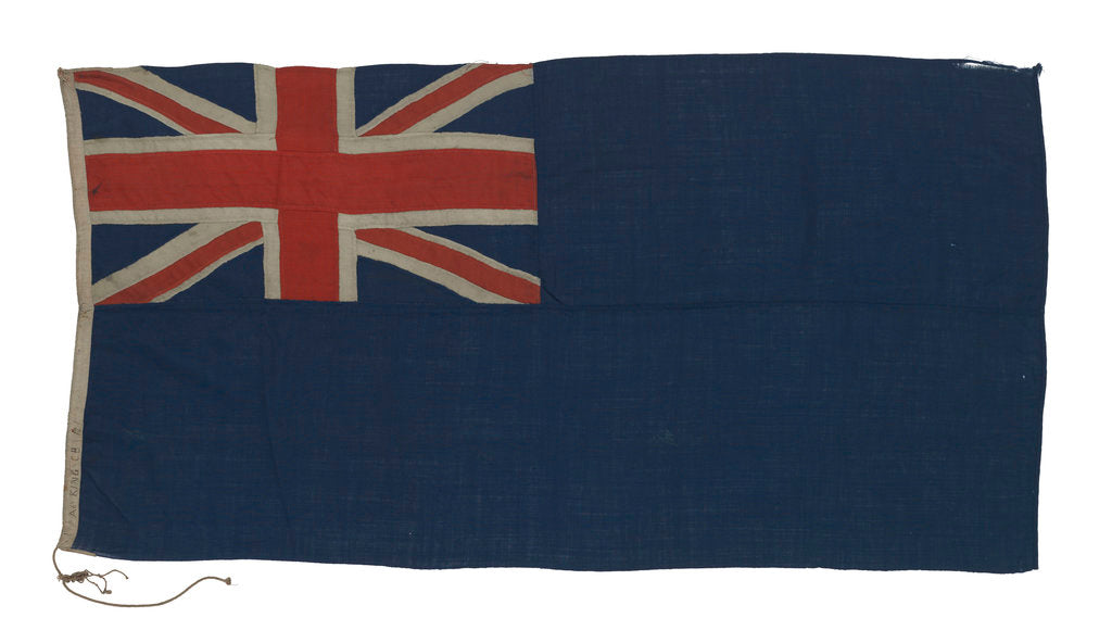 Detail of Blue Ensign by unknown