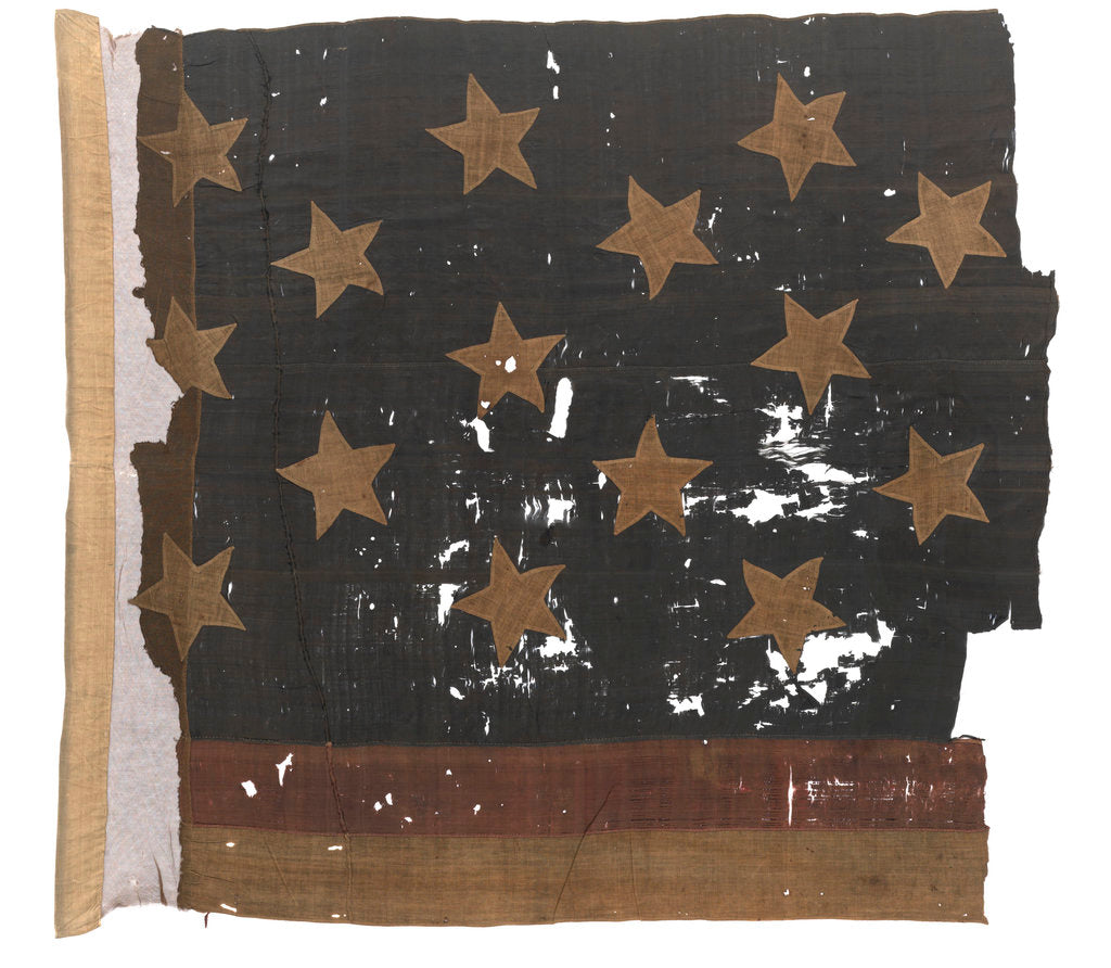 Detail of USA Naval ensign by unknown