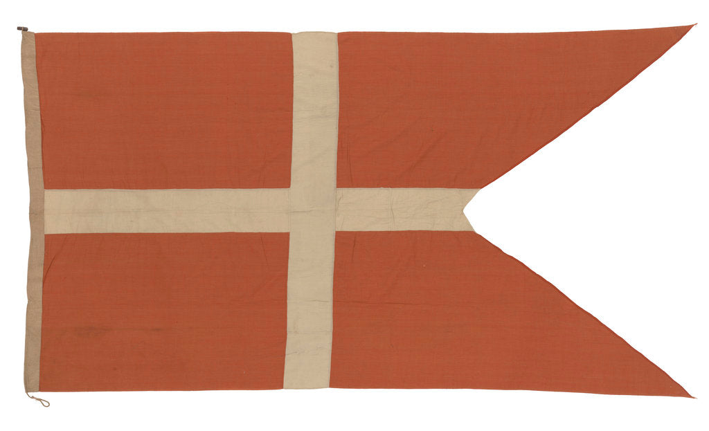 Detail of Danish naval ensign by unknown