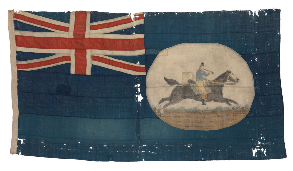 Detail of Post Office Blue Ensign (before 1864) by unknown