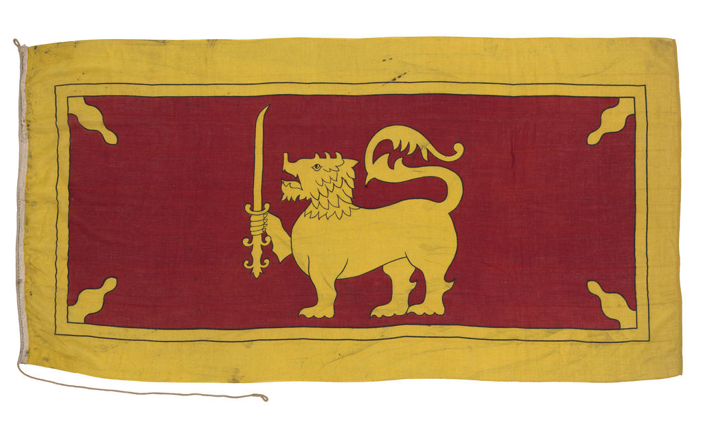 Detail of National Flag of Ceylon (1948-1951) by unknown
