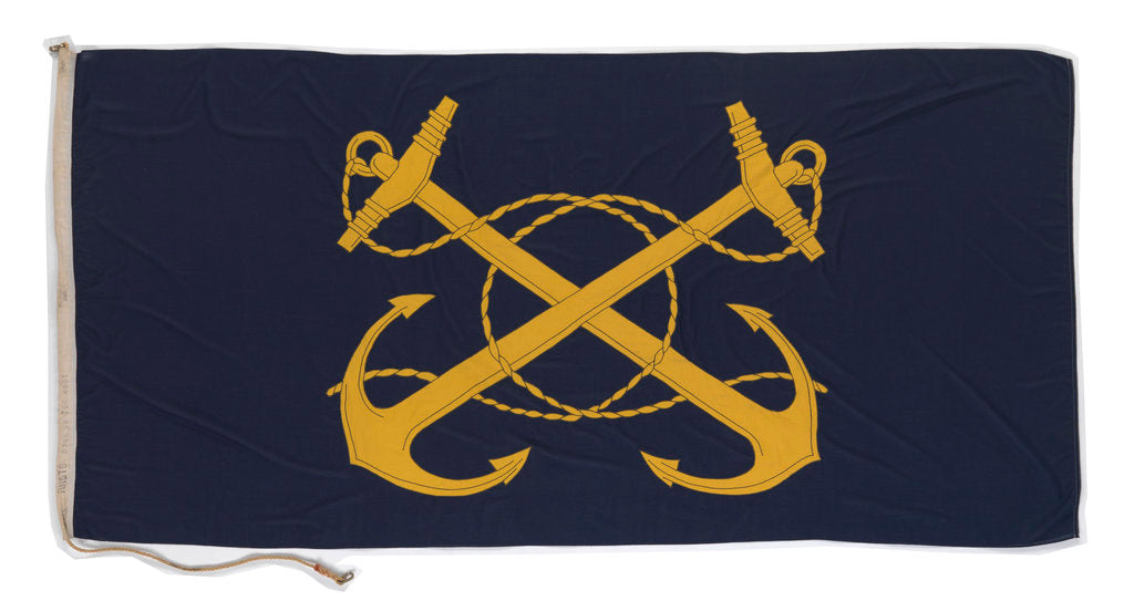Detail of House flag, Royal Naval Supply and Transport Service by Porter Bros