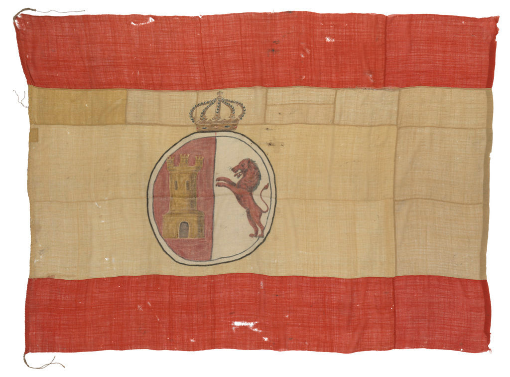 Detail of Spanish Naval ensign (1785-1931) by unknown