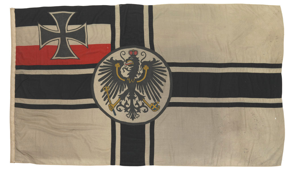 Detail of Imperial German naval ensign (1903-1921) by unknown