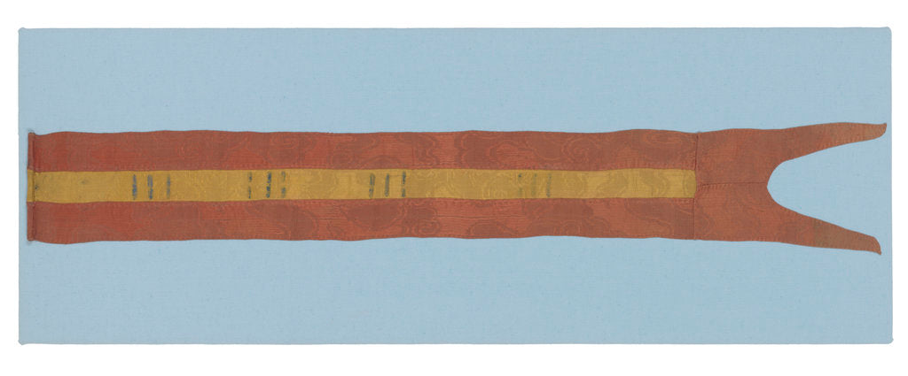 Detail of Chinese junk pennant by unknown