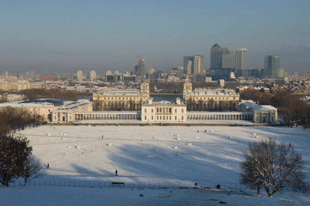 Detail of National Maritime Museum and Queen's House after heavy snowfall by National Maritime Museum Photo Studio