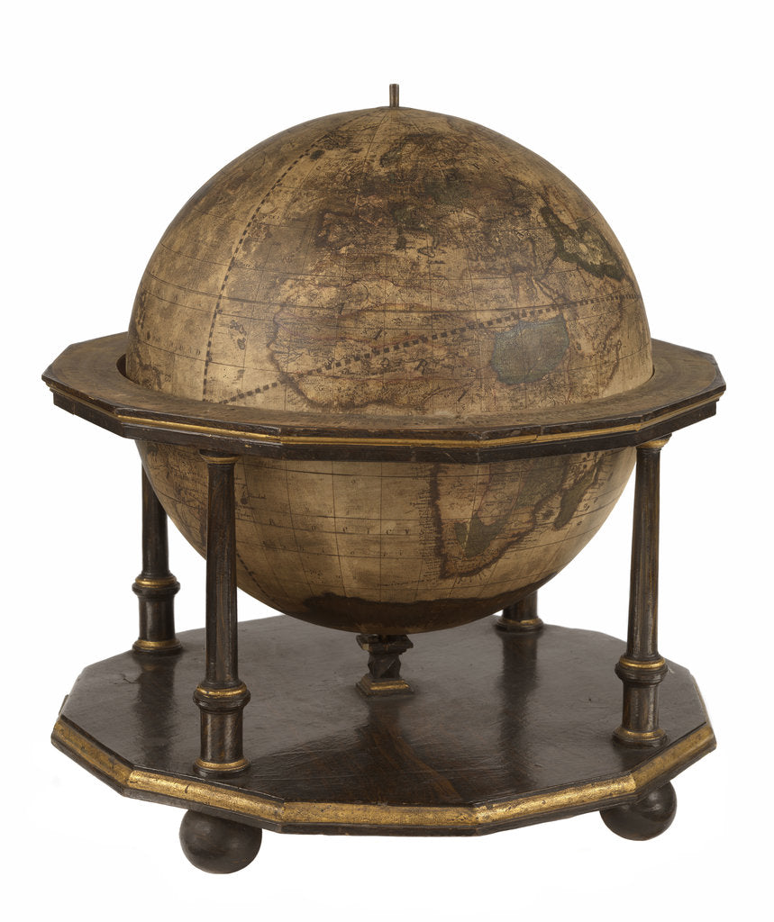 Terrestrial table globe by unknown