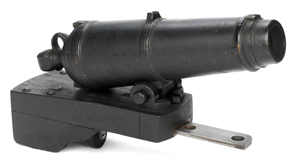 Detail of Muzzle loading carronade by unknown