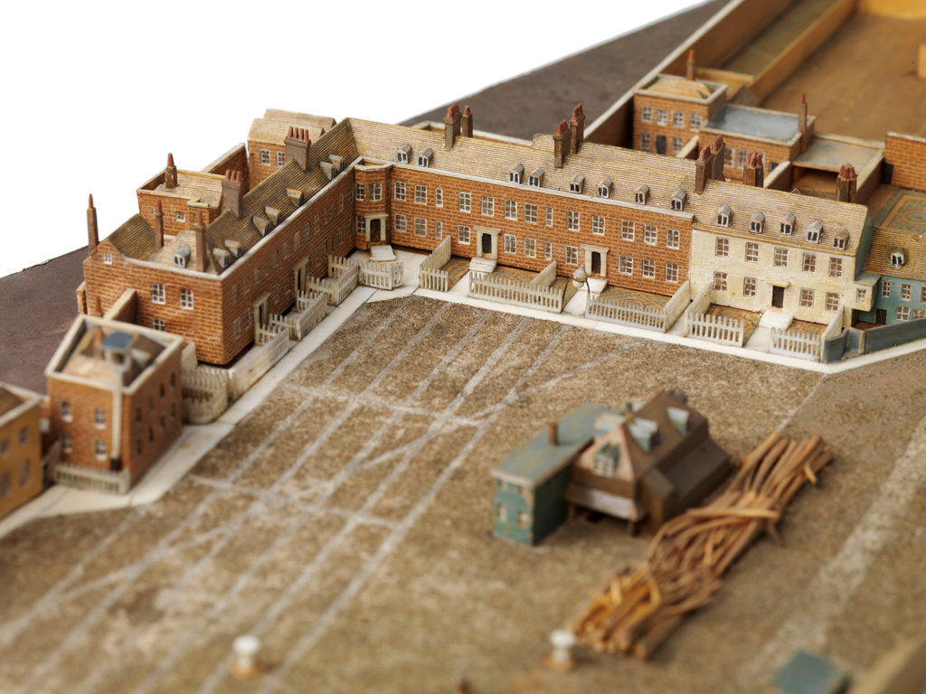 Detail of Royal Dockyard at Deptford by Thomas Roberts