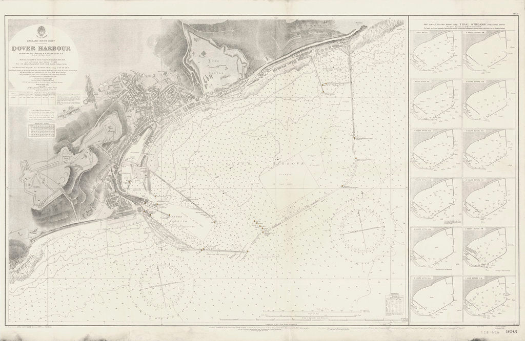 Detail of Admiralty Chart of Dover Harbour (1937) by unknown