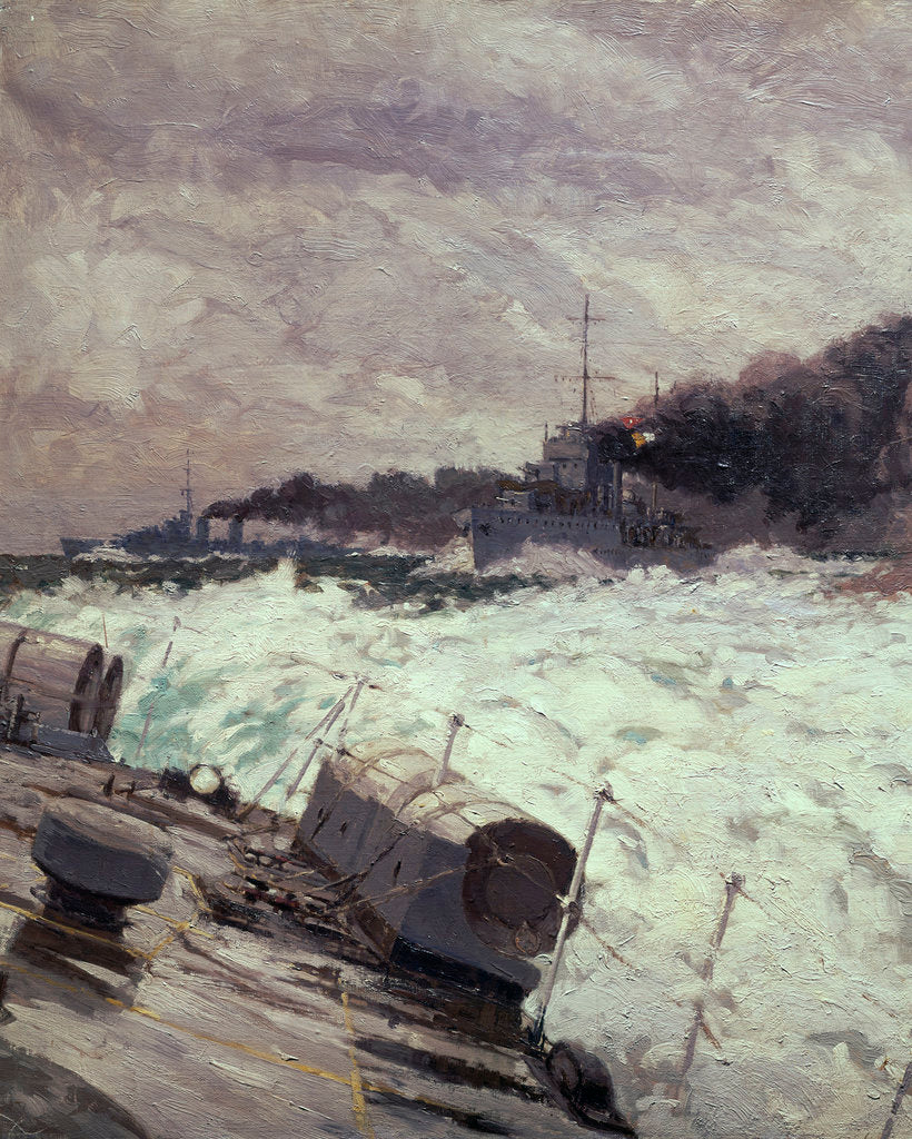 Detail of Destroyer smoke screen (detail) by Norman Wilkinson