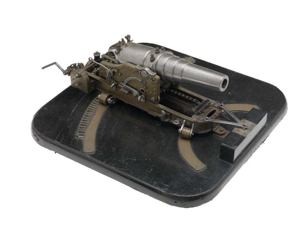 Detail of Ordnance model; Gun model by unknown