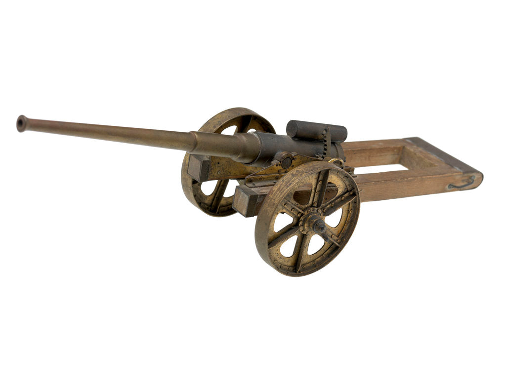 Detail of Gun model; Field Gun by unknown
