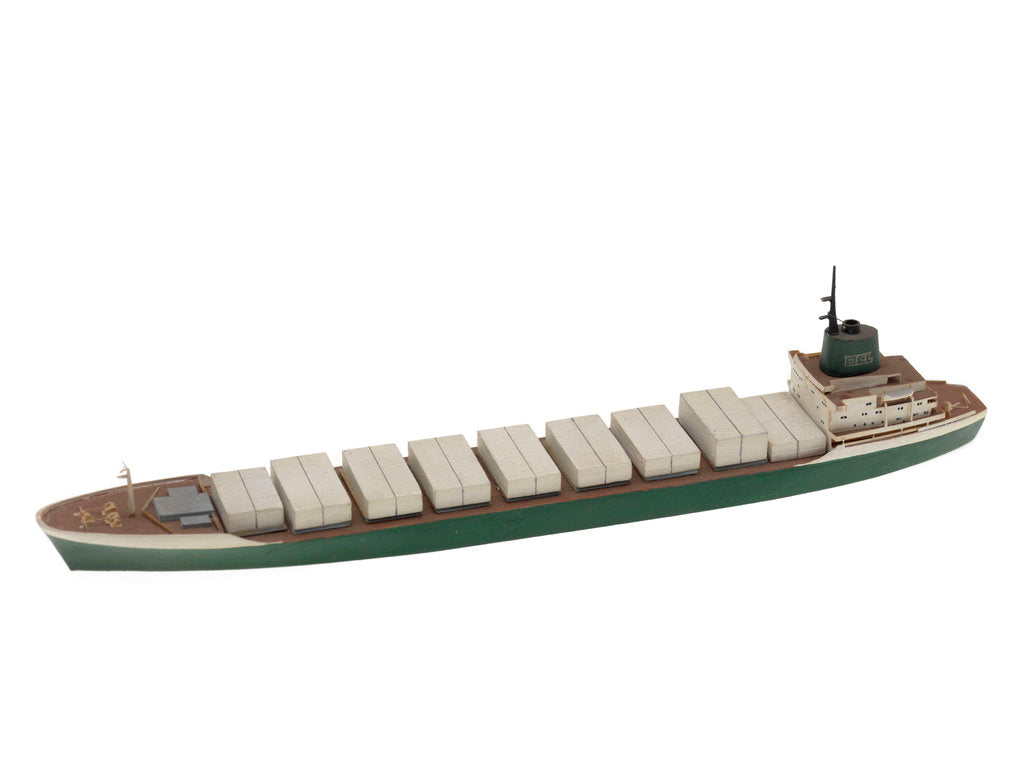 Waterline model; Miniature model by Reginald Carpenter