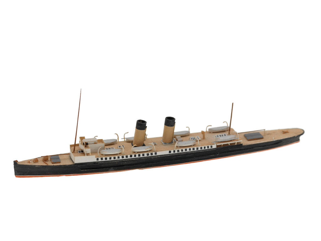 Detail of Waterline model; Miniature model by Reginald Carpenter