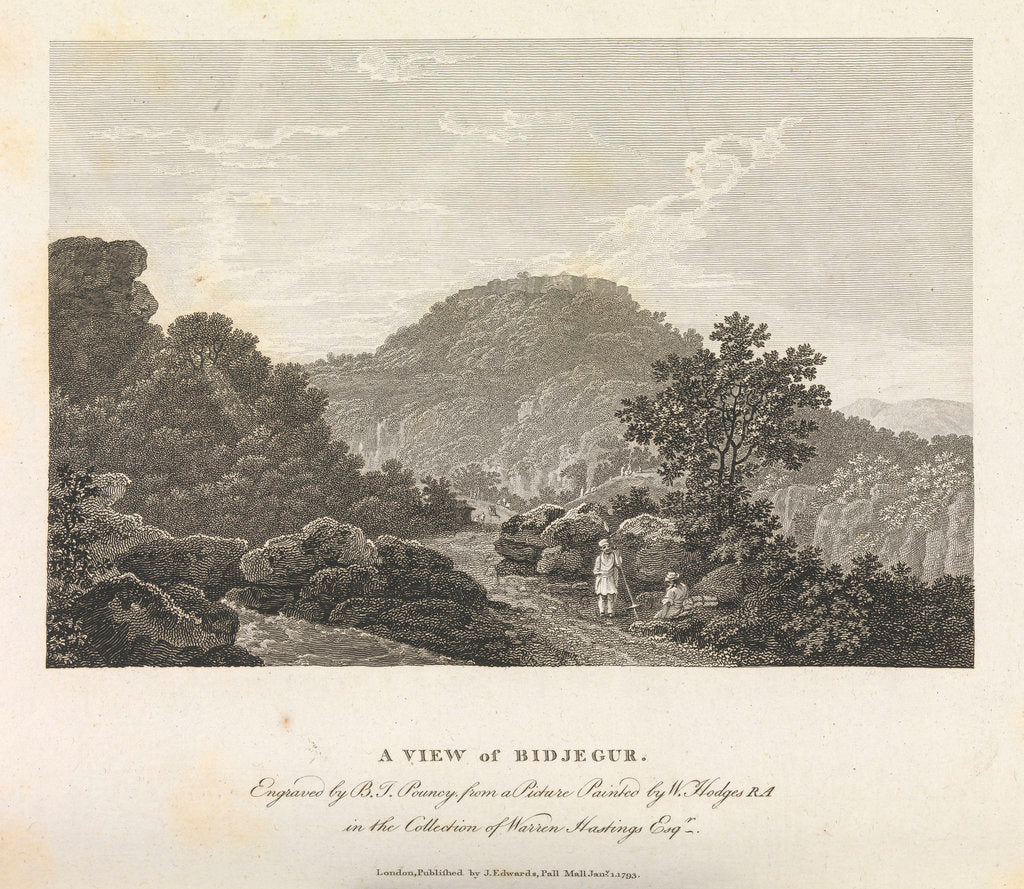 A view of Bidjegur by William Hodges