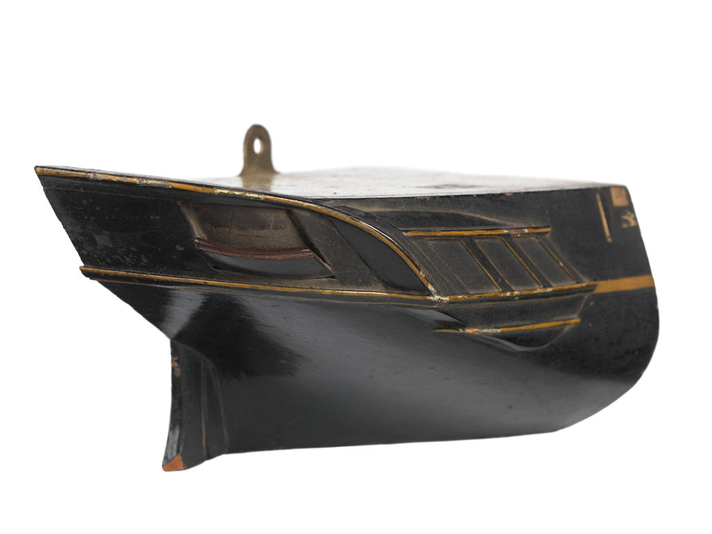 Detail of Stern model; Sectional model; Waterline model; Half hull model by unknown
