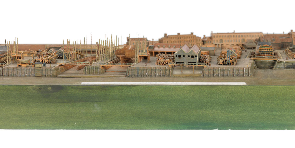 Detail of Topographical model by Richard Pickthorne