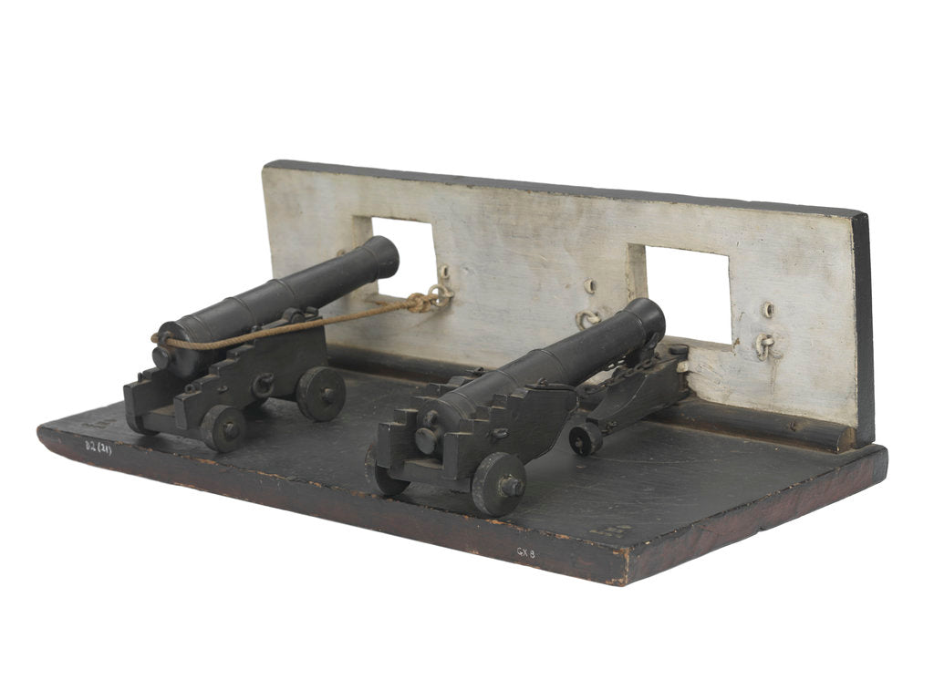 Detail of Ordnance model; Gun model; Sectional model by unknown