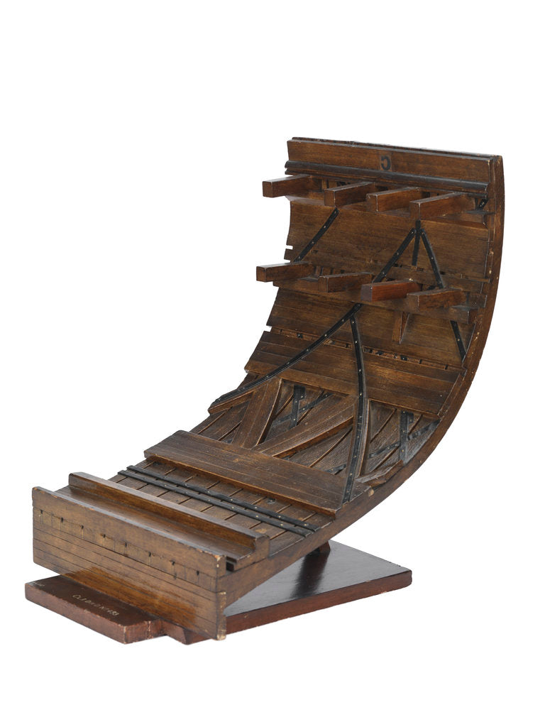 Detail of Sectional model; Plank-on-frame by unknown