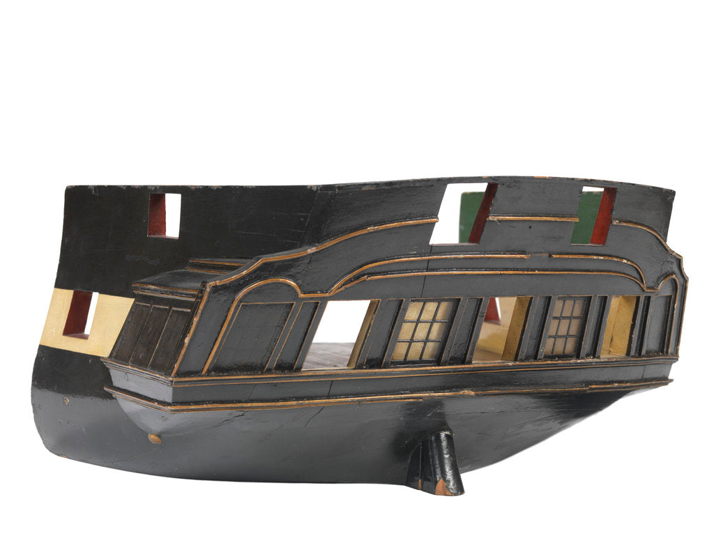 Detail of Sectional model; Stern model; Waterline model by unknown