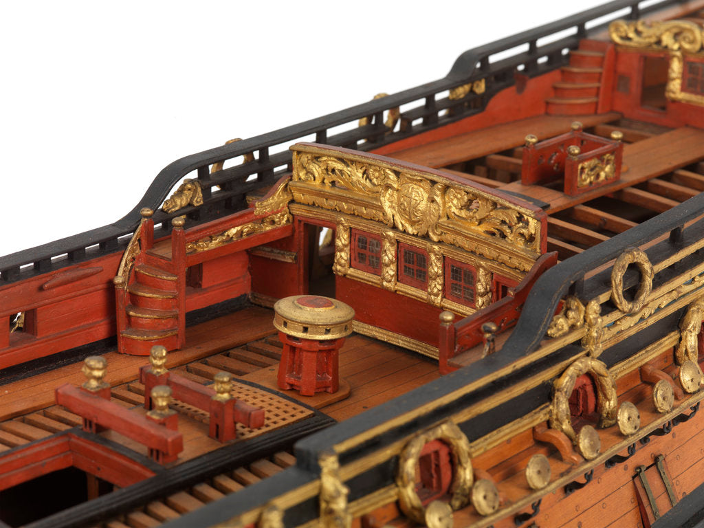 Detail of Contemporary full hull model of the 'Mordaunt' by unknown