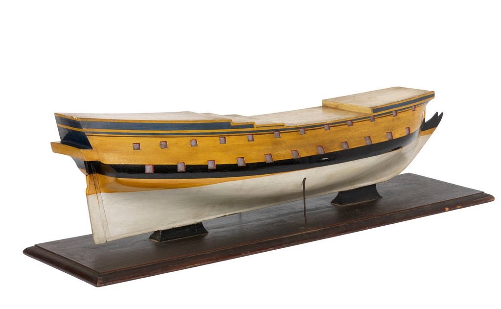 Detail of Model of the vessel 'Triton' (1697), warship, French, 42 guns by unknown